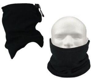 1x-Neck-Warmer-Winter-Snood-Tube-Thermal-Fleece-Motorbike-Cycling-Unisex-Black