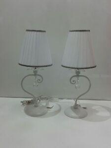 Coppia lampade da tavolo lumetti moderno cristallo lume for Lampade arredo casa