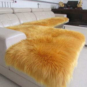 Pure Wool Mat Sofa Cushion Sheepskin Pet Mat Bay Window Pad Luxury Car Seat Mat Ebay