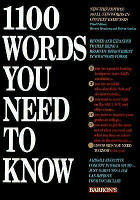 1100 Words You Need to Know by Bromberg, Murray