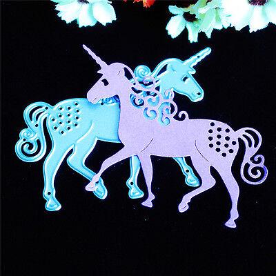 Unicorn Horse Metal Cutting Dies Stencil Scrapbooking Card Paper Embossing Craft