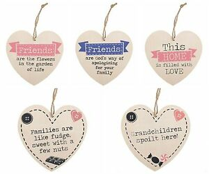 Heart-Shape-Wooden-Plaque-Friends-And-Family-Shabby-Chic-Hanging-Decoration