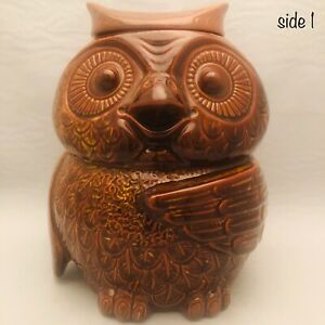 """McCoy Pottery Woodsy the Brown Owl Cookie Jar 204 USA 10"""" Tall"""