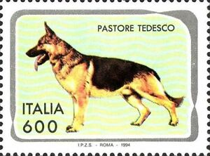 ITALIA-ITALY-1994-Pastore-Tedesco-Sheep-dog-Cani-Chiens-Dogs-Stamp-MNH