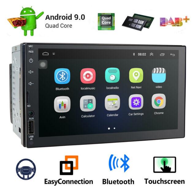 "In Dash Andriod 8.1 Double 2Din 7/"" Car Stereo GPS DAB Radio WiFi 4G Head Unit E"