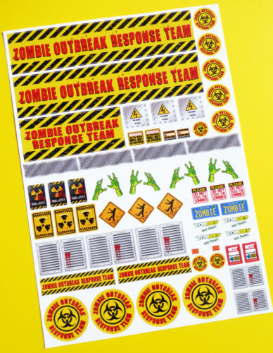 RC Zombie Outbreak Response Team Stickers Autocollants Idéal Pour Tamiya Lunch Box!