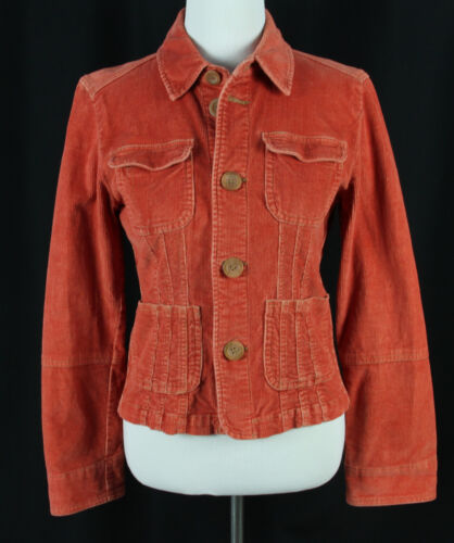 Tulle Juniors Size L Jacket Corduroy Stretch Orang