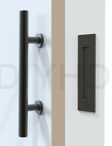 Image Is Loading Stainless Steel Black Sliding Barn Door Handle Wood