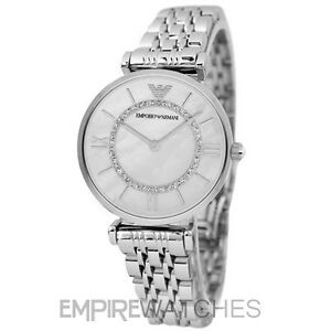 15815244 Details about *NEW* EMPORIO ARMANI LADIES GIANNI SILVER T-BAR WATCH -  AR1908 - RRP £279