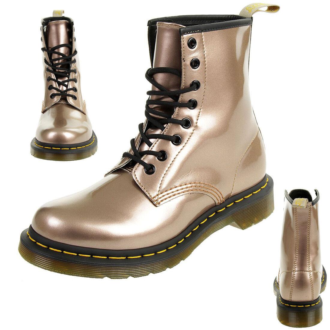 Dr. Martens 1460 Vegan Chrome señora botas metalizado rosado oro oro oro 24865716  mejor precio