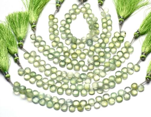 Green Prehnite Gemstone Beads,Stone Beads,Faceted Heart Shape Beads,Faceted Beads
