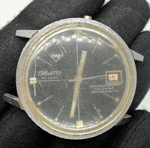 Caswatch-Du-Luxe-Main-Manuel-Vintage-35-7-mm-Pas-Fonctionne-pour-Pieces