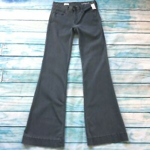 Gap-1969-Womens-Jeans-size-4-Extra-Long-Tall-x38-034-new-Gray-Flared-Cotton-Stretch