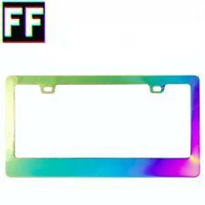Iridescent Holographic License Plate Frame - Chrome - Chameleon - Rainbow