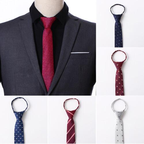 Fashion Men/'s Animal Print dog Tie Polyester Zipper Necktie Narrow Slim Skinny