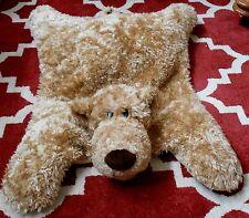 "GUND BEAR BLANKET CLANCY Plush Stuffed Child Toddler Tan POTTERY BARN 36"""