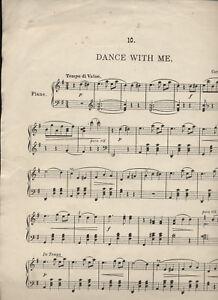 """""""danse Avec Moi"""" - Histoires Au Piano N0.10 Par Carl Bohm-afficher Le Titre D'origine"""