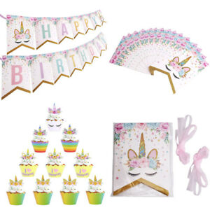 Happy-Birthday-Garlands-Banners-Unicorn-Paper-Cake-Topper-Birthday-Party-Decor