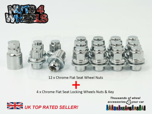 12 x Flat Seat OEM Alloy Wheel Nuts /& Lockers fits Mitsubishi Colt