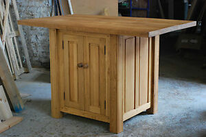Handmade Solid Oak Kitchen Island