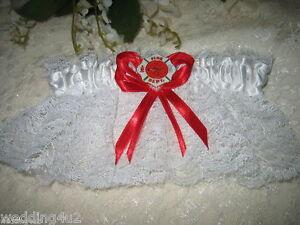 Fireman-Firefighter-WEDDING-MALTESE-Bridal-Garter-WHITE