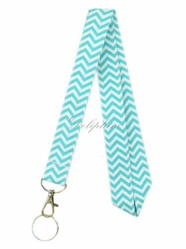 Double layers wave colorful fabric necklace Lanyard for Key ID badge holder