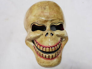 Hand-Crafted-WOODEN-gift-wall-hanging-Off-Skull-MASK-NEPAL-decorative