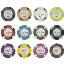 New Bulk Lot of 600 Monaco Club 13.5g Clay Casino Poker Chips - Pick Chips!