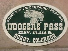 IMOGENE PASS, Ouray, Colorado CO vinyl sticker decal,jeeping,4X4,,4WD