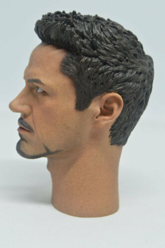 1//4 Scale Tony Stark Head Sculpt for MK43  MK45 Hot Toys T800