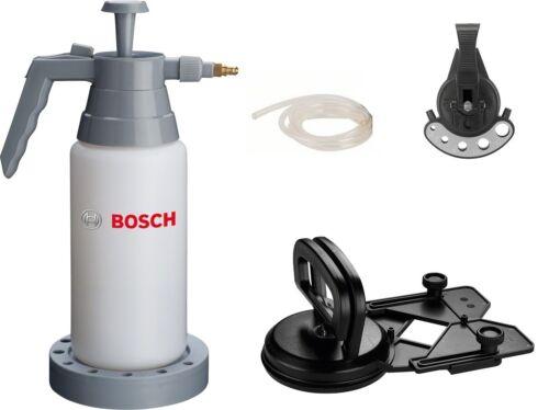 Schlauch /& 2 Zentrierhilfen Bohrer Lochsägen BOSCH Wasserdruckflasche 0,9l inkl