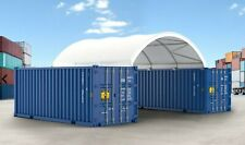 Gm 10 Oz Pe 20x20 Shipping Container Conex Mounted Fabric Canvas Shelter