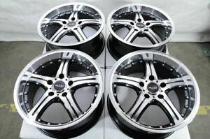 18-034-Wheels-Mercedes-Audi-A3-A4-Q3-E320-E500-VW-GTI-Jetta-Cooper-Black-Rims-5x112