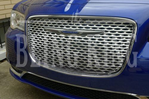 Fits 2015-2020 Chrysler 300 chrome mesh grille bentley grill insert overlay trim