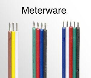 1m 3 adrig CCT 4 polig RGB 5 Adern RGBW Verlängerung Anschluss Kabel ...