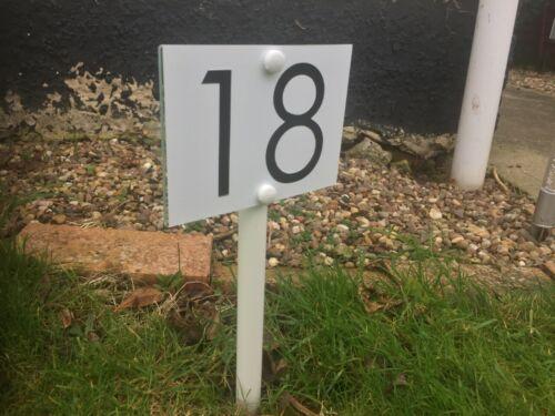 Número De Casa Personalizado placas pié afectan Signo De Césped Jardín Hierba.