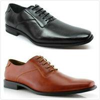 Brand Men's Classic Formal Lace Up Snipe Toe Oxford Dress Flat Shoes