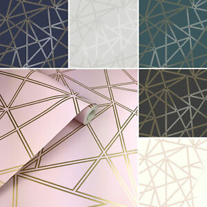 Details About 3d Apex Geometric Wallpaper Triangle Metallic Luxury Paladium Holden Decor