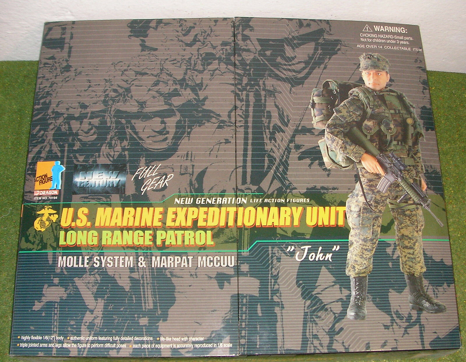 DRAGON 1 6 MODERN US JOHN - MARINE EXPEDITIONARY UNIT LONG RANGE PATROL WOODLAND