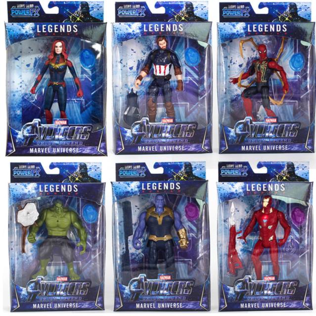 Marvel Calendrier.2019 The Avengers Figurines Infinity War Captain Iron Spider Led Jouet Cadeaux