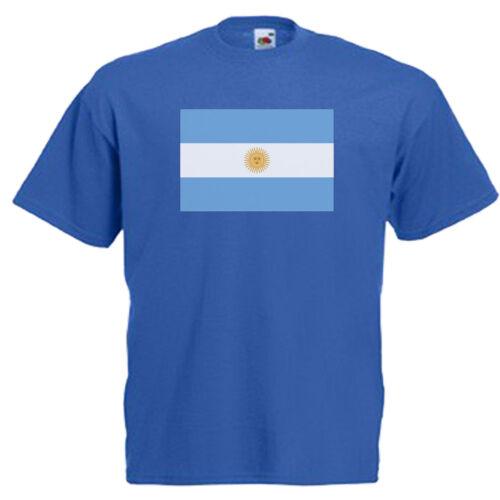 Argentina Flag Children/'s Kids Childs T Shirt