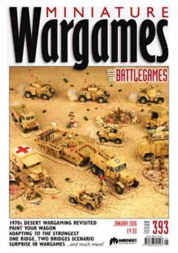 MINIATURE WARGAMES JAN 2016 ISSUE 393