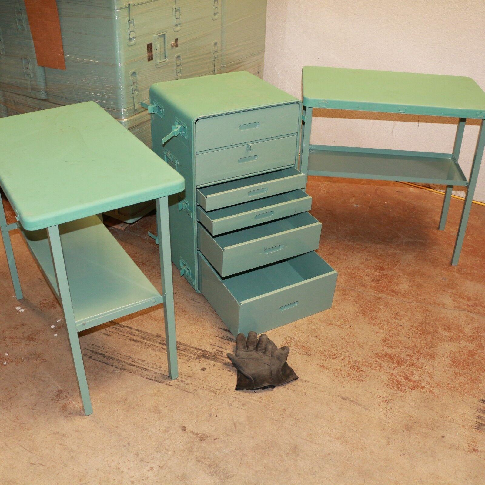 Cajón de pie y dos mesas al aire pecho libre se convierte en pecho aire 30x18x19 Aluminio Usado 9fbfc9