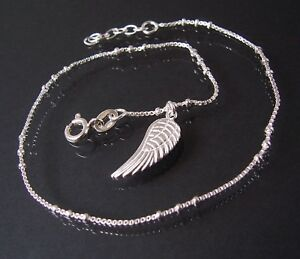 Pulsera-de-tobillo-collar-cadena-Veneciana-plata-925-24-26cm-Perlas-colgante