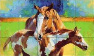 Morning-Colors-by-Julie-T-Chapman-Horse-Ceramic-Tile-Mural-Backsplash-RW-JTC006