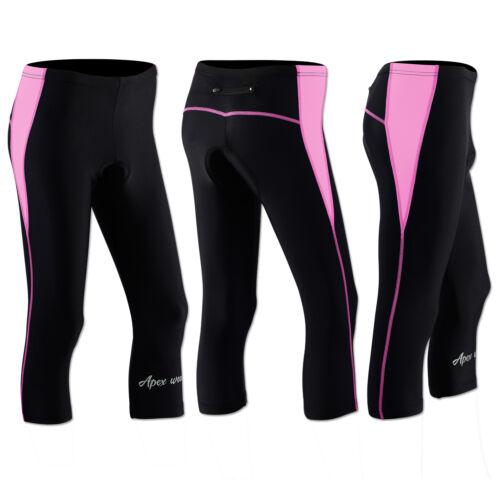 Femmes Cyclisme Collants 3//4 Short Rembourré Femmes Leggings Cool Max Anti bac Pad