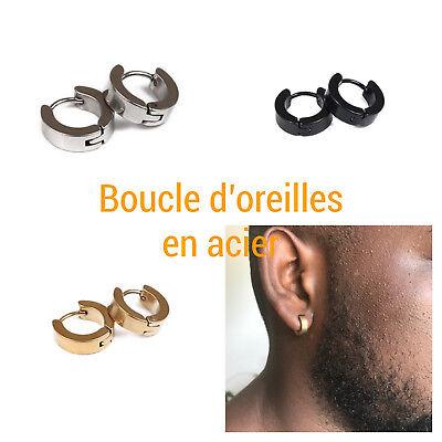 boucle d'oreille homme cercle