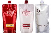 Milbon Straight Liscio Hair Straightening, Neutralizer + Knoteur Zero Treatment