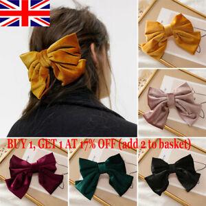 Lovely Girls Hairpins Gold Velvet Big Bowknot Hair Accessories Hair Clips