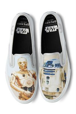 Sperry STAR WARS Slip On Droids R2-D2  C-3PO w// star wars box  9.5 10 10.5 11 12